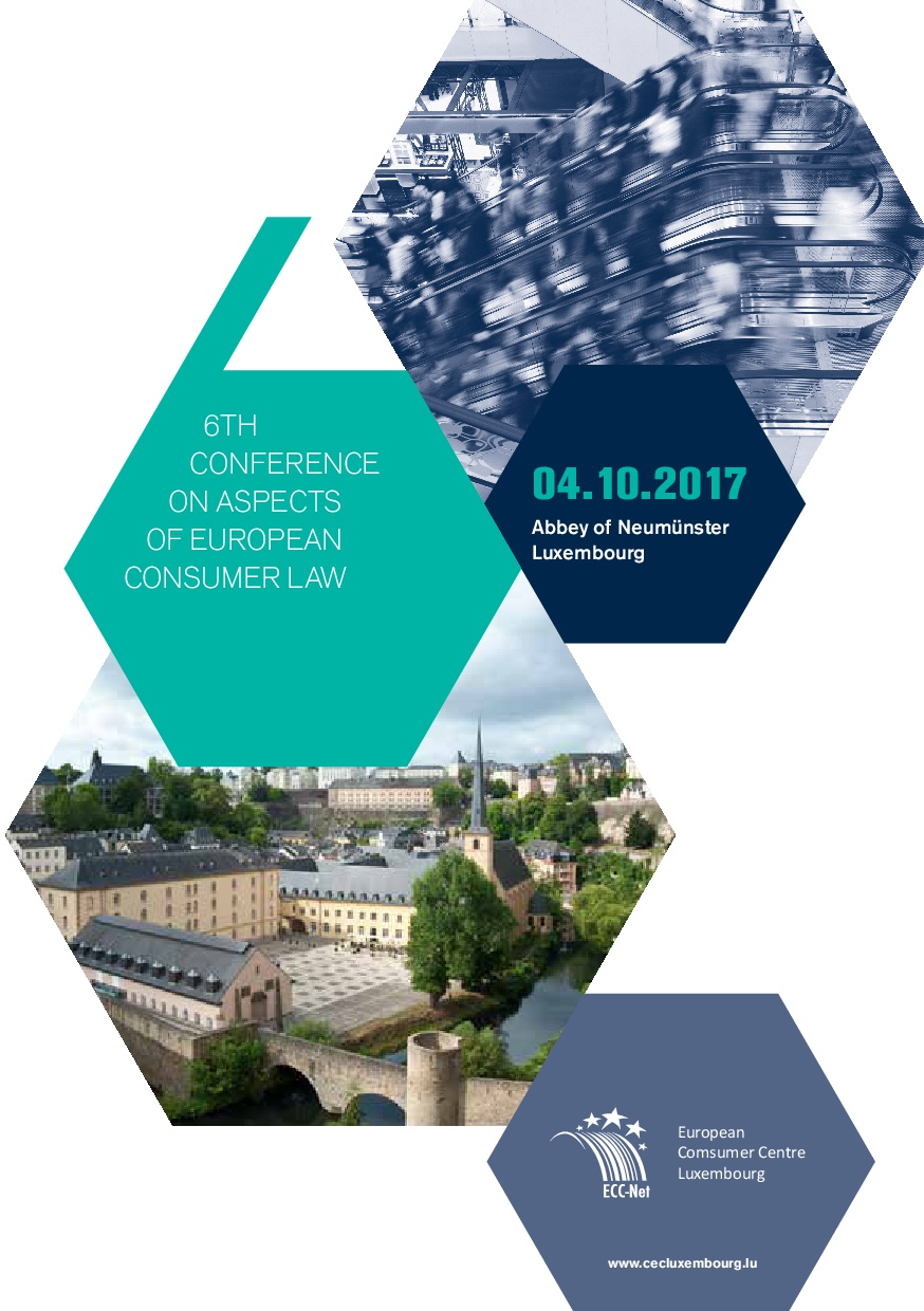 6th Conference on Aspects of European Consumer Law – Presentations