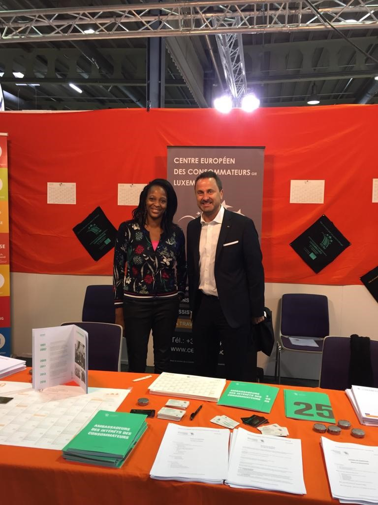 Prime Minister Xavier Bettel visits ECC Luxembourg exhibition stand